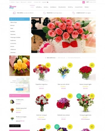 Responsive Online Flower Shop Theme