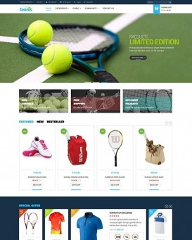 Sports Gear Template for PrestaShop Stores