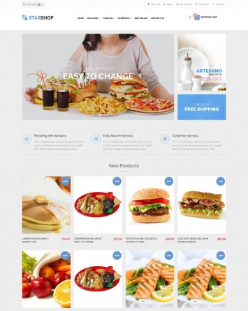 Template site de Catering