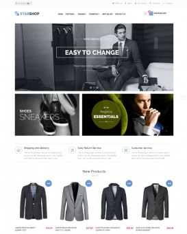 Menswear theme for PrestaShop