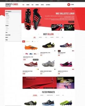 Template magazin de echipamente sportive