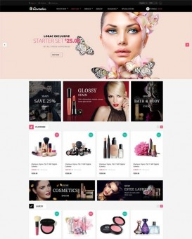 Template magazin produse cosmetice