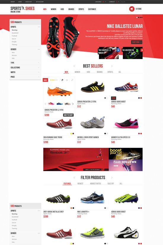 Leo Football Market Prestashop